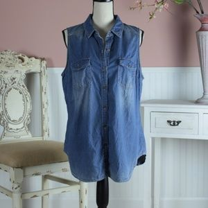 a.n.a denim shirt size XL